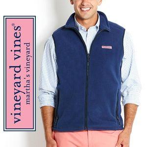 VINEYARD VINES Blue Fleece Vest mens size Medium